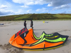 Kitesurfers at Melness