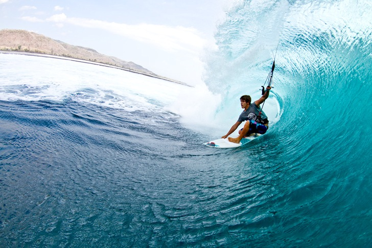 Wave Riding Kitesurf