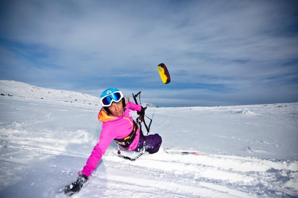 Kari Schibevaag Snowkiting