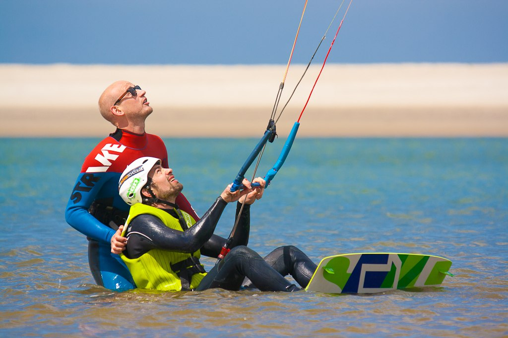 Water starting Kitesurf